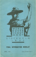 World Rover Scout Moot. Stockholm, 1935. - Final Information Booklet