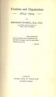 Russell, Bertrand : Freedom and Organization 1814-1914