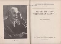 Schlipp, Paul Arthur : Albert Einstein Philosopher-Scientist.