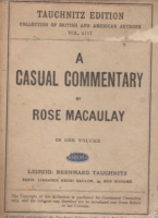 Macaulay, Rose : A casual commentary