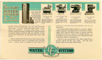 Delco-Light Company, Dayton Ohio - Water Systems. (Product of General Motors)  Dependable Pumping Service for City or Country.