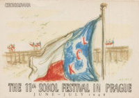 The 11th Sokol Festival in Prague - June-July 1948  [Flag]