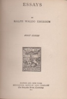Emerson, Ralph Waldo : Essays - First Series