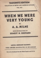 Milne, A. A. : When we were very young