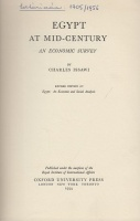 Issawi, Charles : Egypt at Mid-Century - An Economic Survey