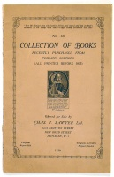 No. 131.  Collection of books recently purchased from private sources (all printed before 1837).  Offered for sale by Chas. J. Sawyer Ltd.