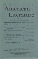 Budd, Louis J., (Ed.) : American Literature - A Journal of Literary History, Criticism, and Bibliography. Vol. 62, No. 2 June 1990