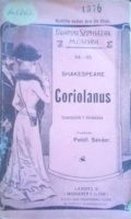 Shakespeare, [William] : Coriolanus