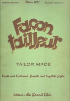 Facon tailleur, Tailor Made Nr. 288 Coats and Costumes French and English Style