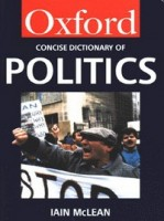 McLean, Iain  : The Concise Oxford Dictionary of Politics