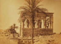019.     BEATO, ANTONIO : [Ruins of the second court at the back of the Palace/Temple of Ramses III at Medinet-Habu, Thebes], cca. 1870.