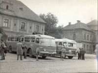 149.     UNKNOWN - ISMERETLEN : [Ikarus 55 and Ikarus 35 type buses], cca.1960.