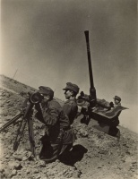 155.     UNKNOWN - ISMERETLEN : [Hungarian Bofors 40 mm anti-aircraft gun in World War II.], cca. 1940. Press photo.