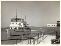219.     SOMOGYI FOTÓ (Balatonlelle) : [The Beloiannis passenger ship in the port Balatonelle], 1954.