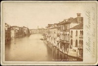 229.     BATTINI & BONALDI : Canale Grande verso Rialto [The Grand Canal and the Rialto in the background in Venice], cca. 1885.