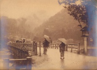 243.     UNKNOWN - ISMERETLEN : [Rainy Day - Japanese genre], cca. 1930.