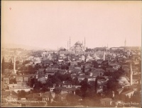 285.     SEBAH, (J. PASCAL) & JOAILLER, (POLICARPE) : Mosquée … [unreadable] … ymanie et maisons turques. [Sultan Ahmed Mosque (Blue Mosque) with Istanbul skyline], cca. 1880.
