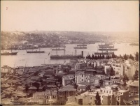 294.     SEBAH, (J. PASCAL) & JOAILLER, (POLICARPE) : Vue panoramique et corne d'or. [Istanbul View of the Golden Horn bay], cca. 1880.