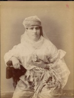 295.     ZANGAKI (Zangaki-Brothers, Constantine and George) : Famme turque couverte. [Veiled Turkish woman], cca. 1880.