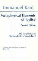 Kant, Immanuel : Metaphysical Elements of Justice