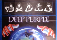 Deep Purple World Tour 1991 koncertplakát. (Ian Paice, Ritchie Blackmore, Joe Lynn Turner, Jon Lord, Roger Glover)
