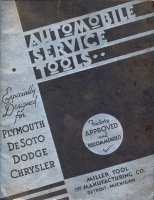 003.  Automobile service tools. especially designed Plymouth, Desoto, Dodge, Chrysler. [termékkatalógus]<br><br>[catalogue] :