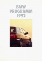 017.   BMW Programm 1992. [reklámprospektus német nyelven]<br><br>[advertising brochure in German] :