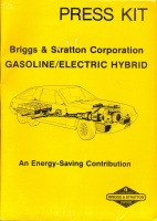 020.   Briggs & Stratton Corporation Gasolin/Electic Hybrid. An Energy-Saving design concept. [reklám-összeállítás angol nyelven]<br><br>[advertising items in English] :