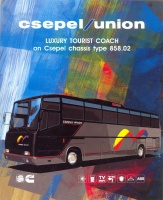 033.   Csepel Union Luxury Tourist Coach. [reklámprospektus angol nyelven]<br><br>[brochure in English] :