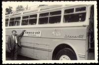 "148.   Zur Erinnerung an den Urlaub mit ""Ibus(z)"" juli 1967. [amatőr fotó]<br><br>[Ibusz bus tour by Ikarus 55 model, July 1967]. [amateur photo] :"