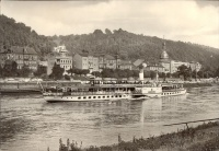 "264. Dampfer ""Leipzig"" in Bad Schandau, Sächs[ische] Schweiz. [képeslap, sokszorosított fotó]<br><br>[Steamboat ""Leipzig"" in Bad Schandau, Saxon Switzerland]. [postcard, mimeographed photo] :"