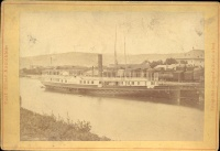 316. Pest-Ofner Ansichten. [fotó]<br><br>[View of Pest-Buda with the Tegetthoff steamboat]. [photo] :