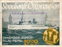 329. Seedienst Oltpreußen. Swinemünde-Zoppot-Pillau-Memel 1929.[prospektus német nyelven.]<br><br>[brochure in German] :