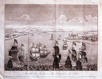 343. Ansicht des Sundes aus dem Categat in die Ostsee. [rézmetszet]<br><br>[View of Helsingør, Kronborg castle, sailing ships in foreground]. [copper engraving] :