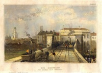 352. Die Eisenbahn von London nach Greenwich. [kézzel színezett acélmetszet]<br><br>[London-Greenwich railway]. [hand-coloured steel engraving]  :