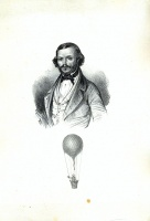 356. [Ismeretlen férfi léghajóval]. [litográfia]<br><br>[Unknown man with a hot-air balloon]. [lithograph] :