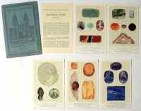 British Museum (Natural History). Ornamental Stones series No. 1, 5 Cards in Colour.